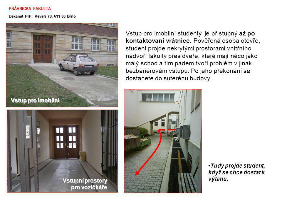 PRÁVNICKÁ FAKULTA Děkanát PrF, Veveří 70, 611 80 Brno.