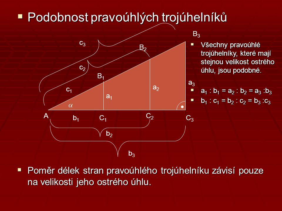 Podobnost pravoúhlých trojúhelníků