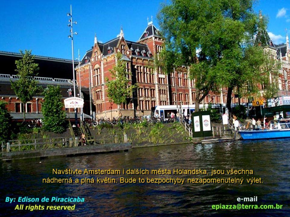 Navštivte Amsterdam i dalších města Holandska, jsou všechna nádherná a plná květin.
