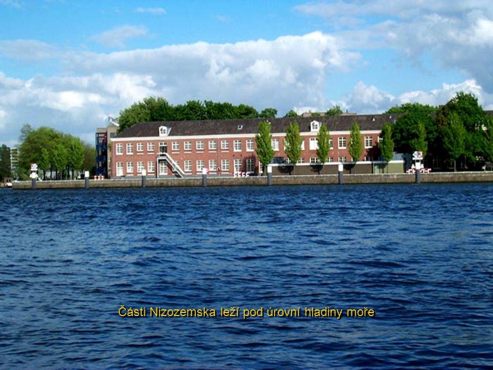 Části Nizozemska leží pod úrovní hladiny moře