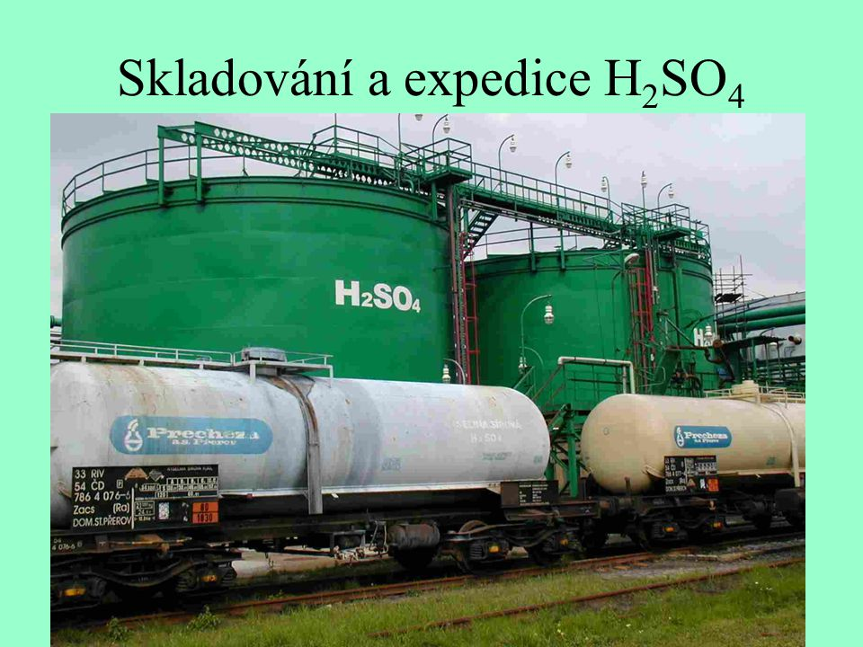 Skladování a expedice H2SO4
