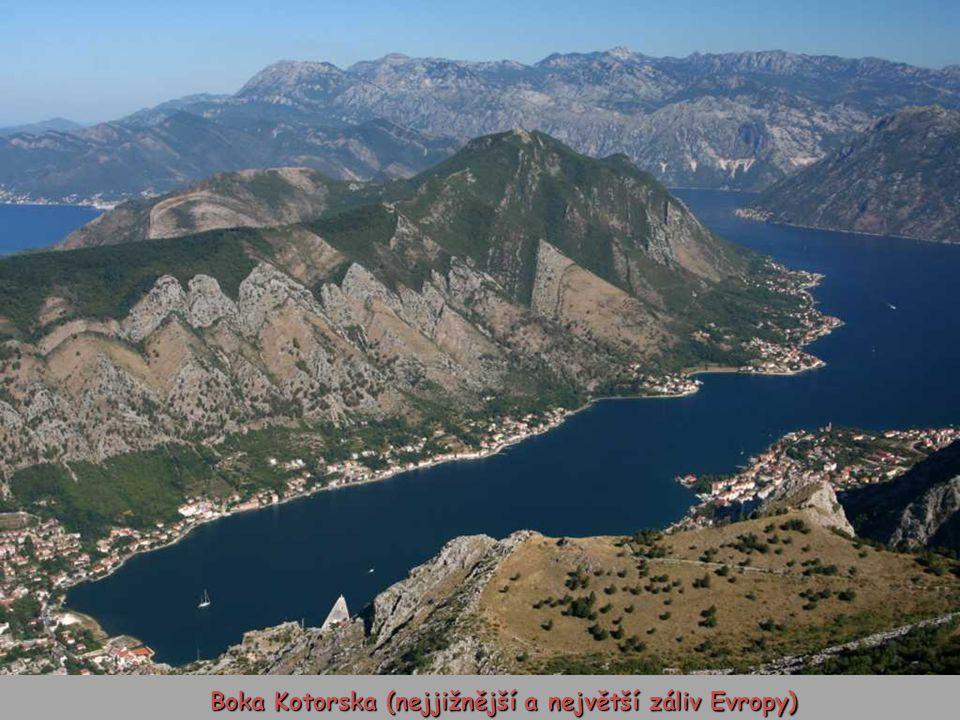 Boka Kotorska (nejjižnější a největší záliv Evropy)