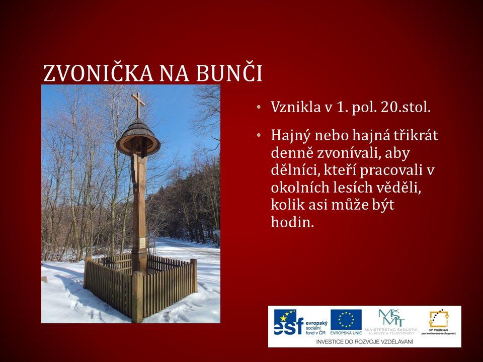 Zvonička na Bunči Vznikla v 1. pol. 20.stol.