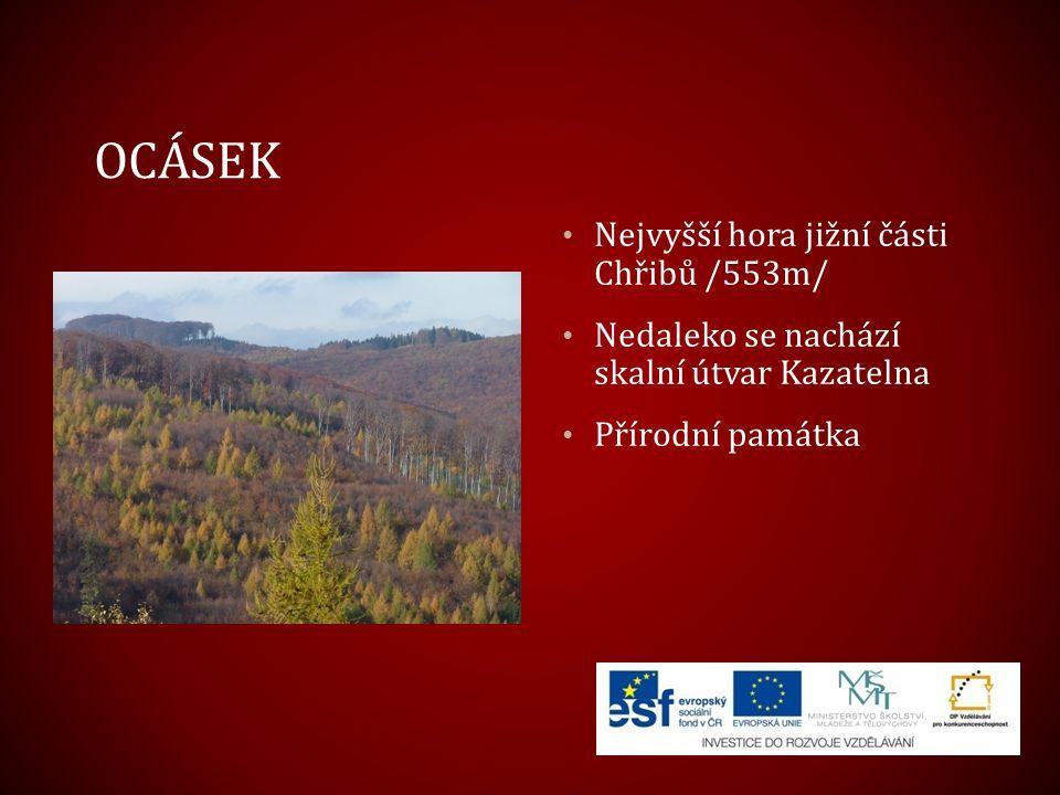 Ocásek Nejvyšší hora jižní části Chřibů /553m/