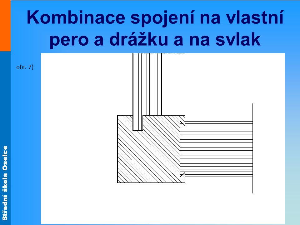 Kombinace spojení na vlastní pero a drážku a na svlak