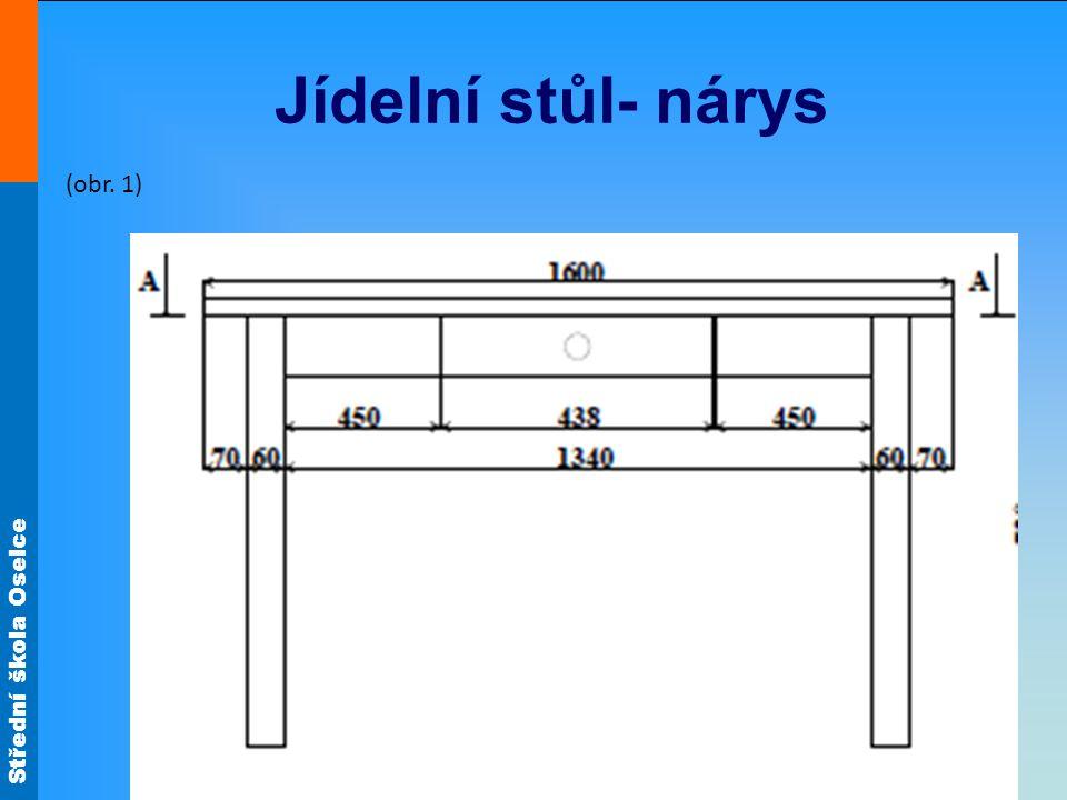 Jídelní stůl- nárys (obr. 1)