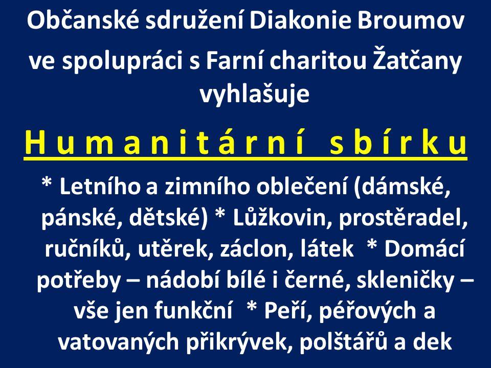 H u m a n i t á r n í s b í r k u Občanské sdružení Diakonie Broumov