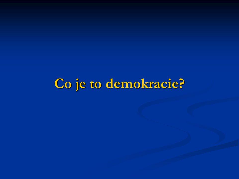 Co je to demokracie