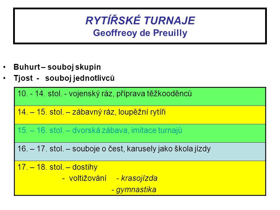 RYTÍŘSKÉ TURNAJE Geoffreoy de Preuilly