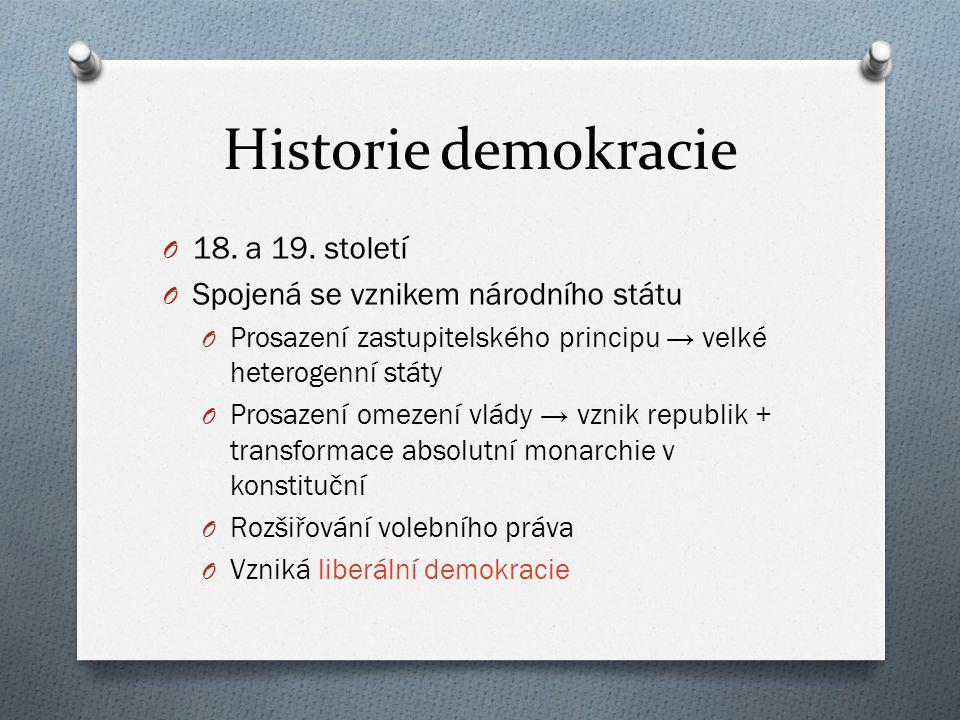 Historie demokracie 18. a 19. století
