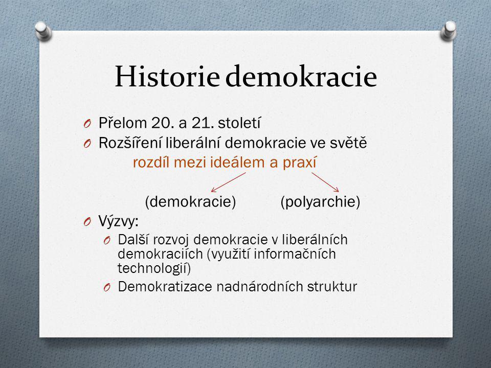 Historie demokracie Přelom 20. a 21. století