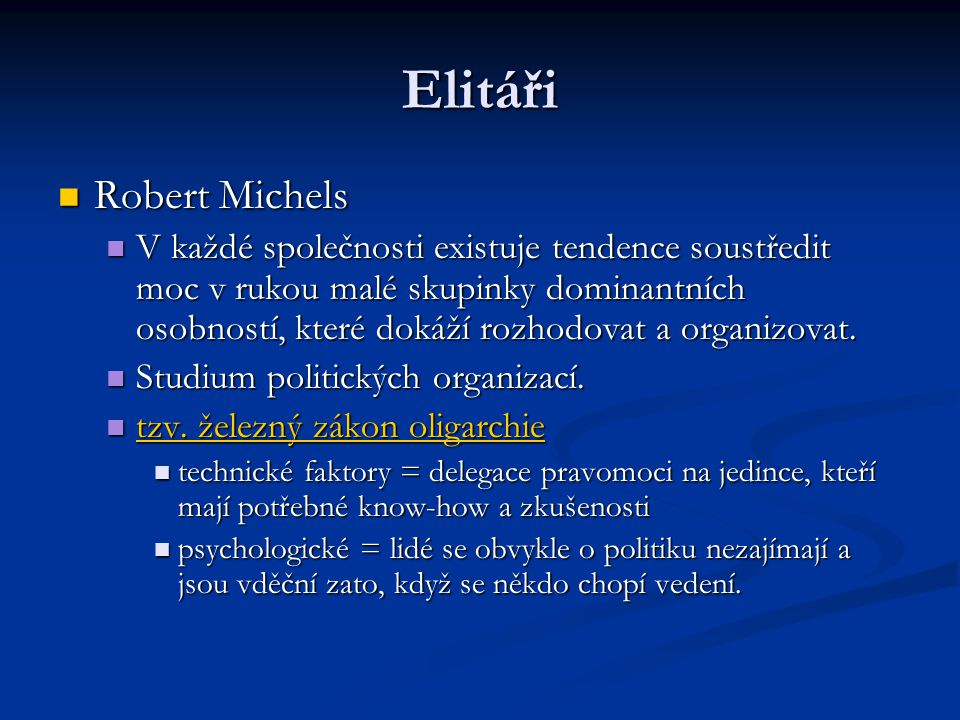 Elitáři Robert Michels
