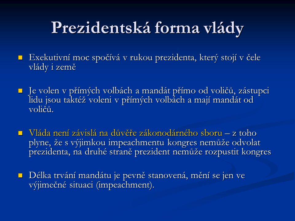 Prezidentská forma vlády