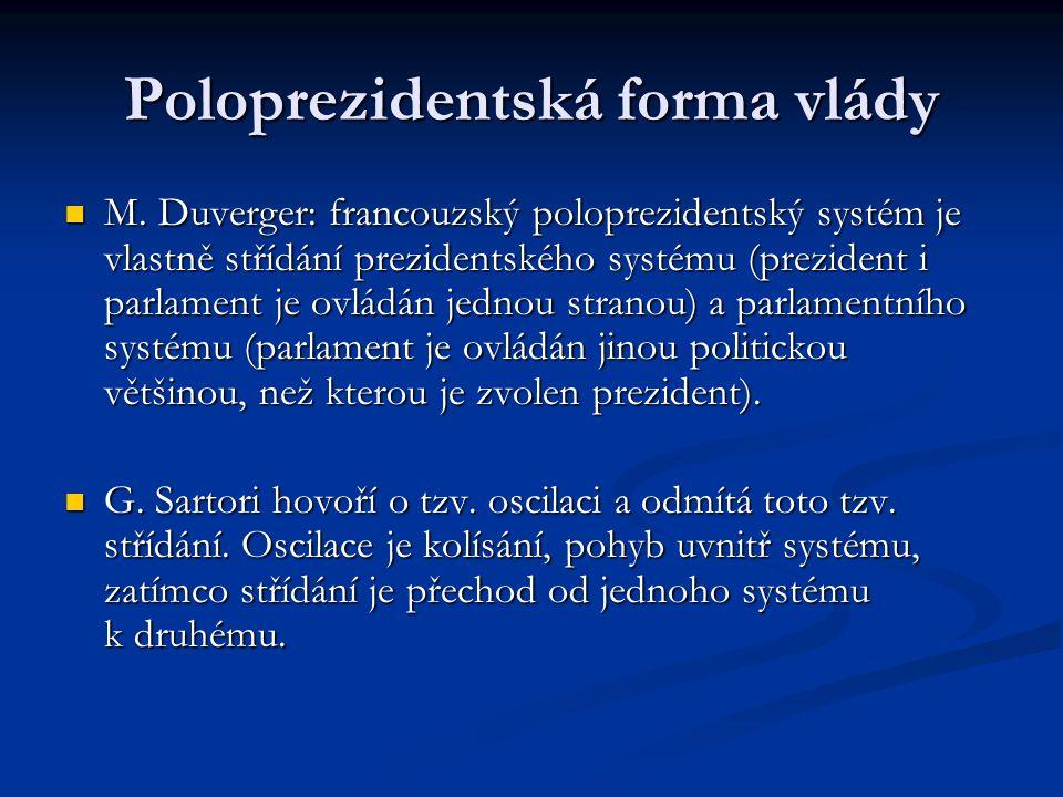 Poloprezidentská forma vlády