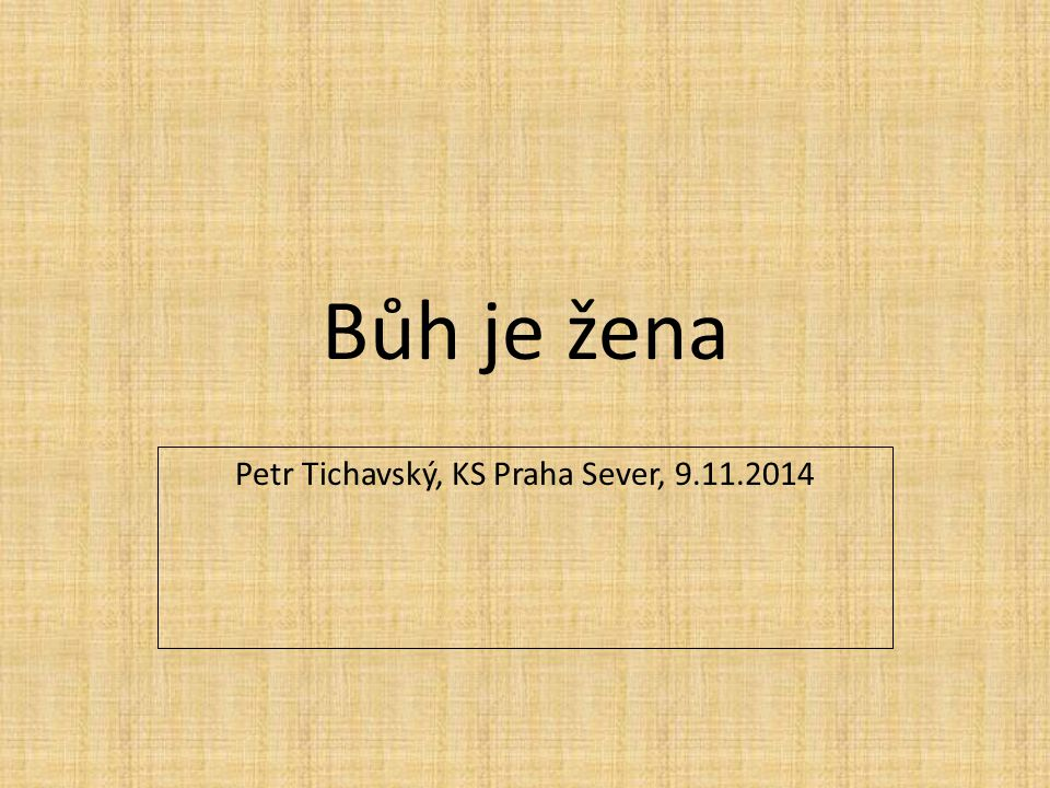 Petr Tichavský, KS Praha Sever, 9.11.2014