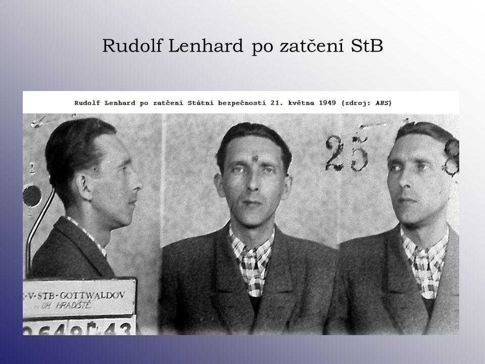 Rudolf Lenhard po zatčení StB