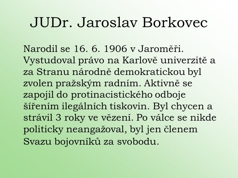 JUDr. Jaroslav Borkovec