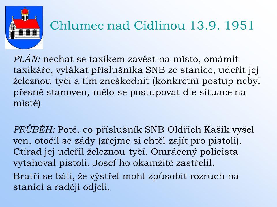 Chlumec nad Cidlinou 13.9. 1951