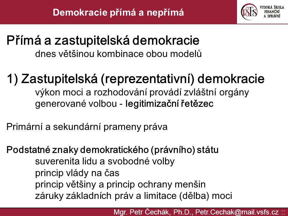 Demokracie přímá a nepřímá