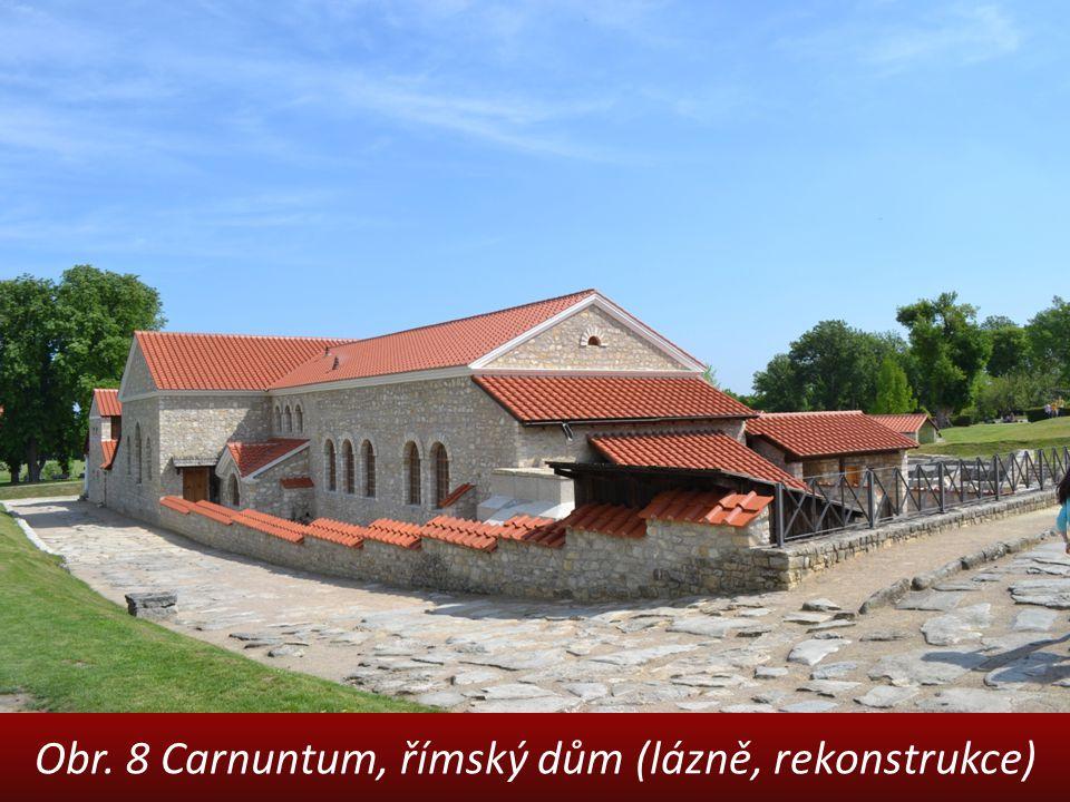 Obr. 8 Carnuntum, římský dům (lázně, rekonstrukce)