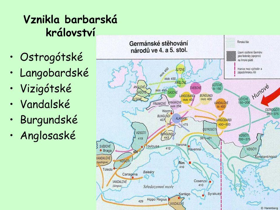 Vznikla barbarská království