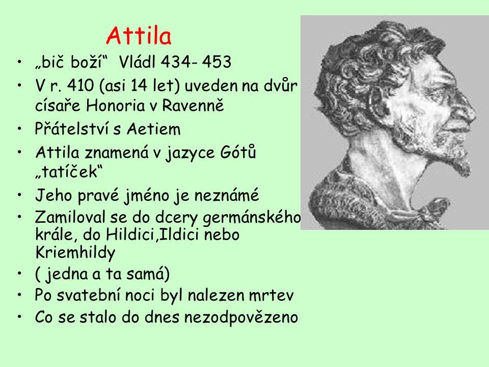 """Attila """"bič boží Vládl 434- 453"""