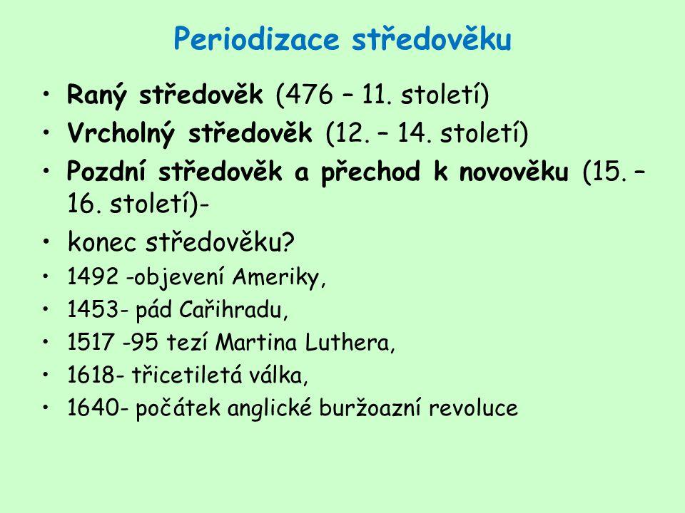 Periodizace středověku