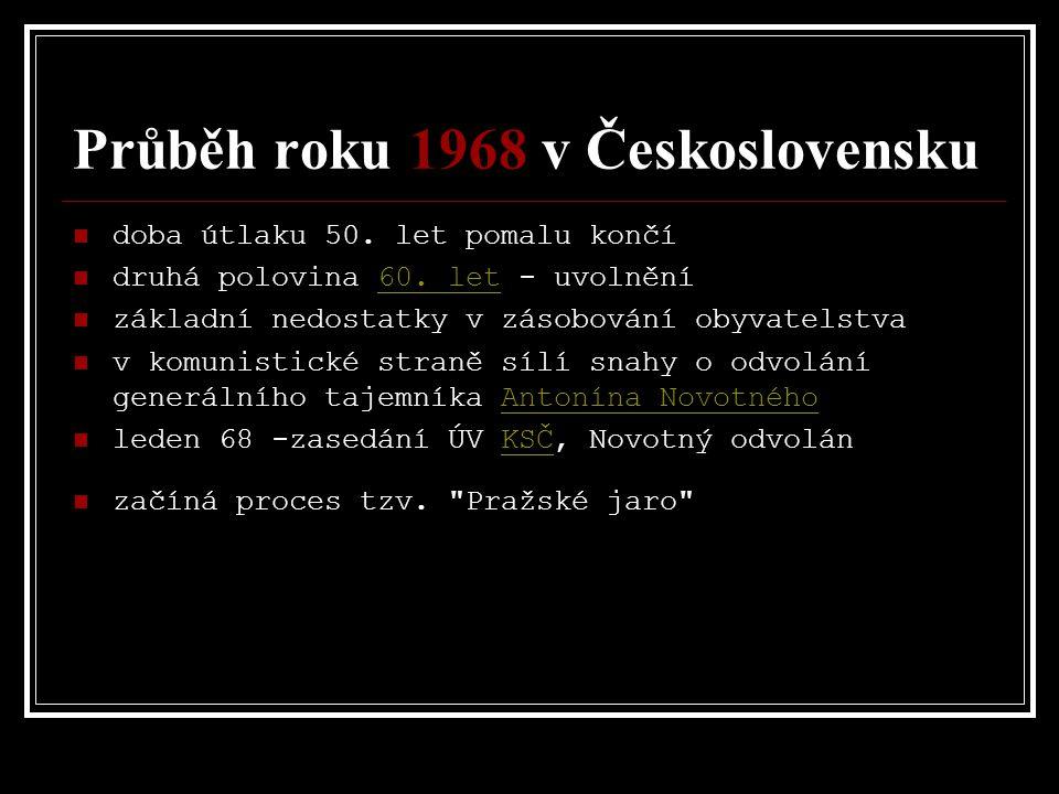 Průběh roku 1968 v Československu