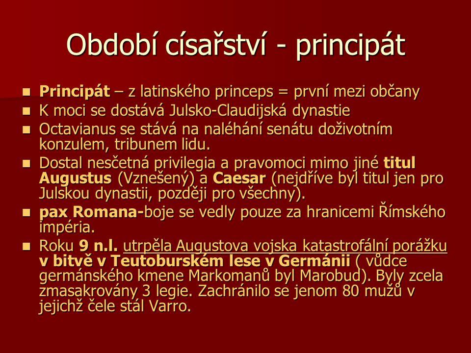 Období císařství - principát