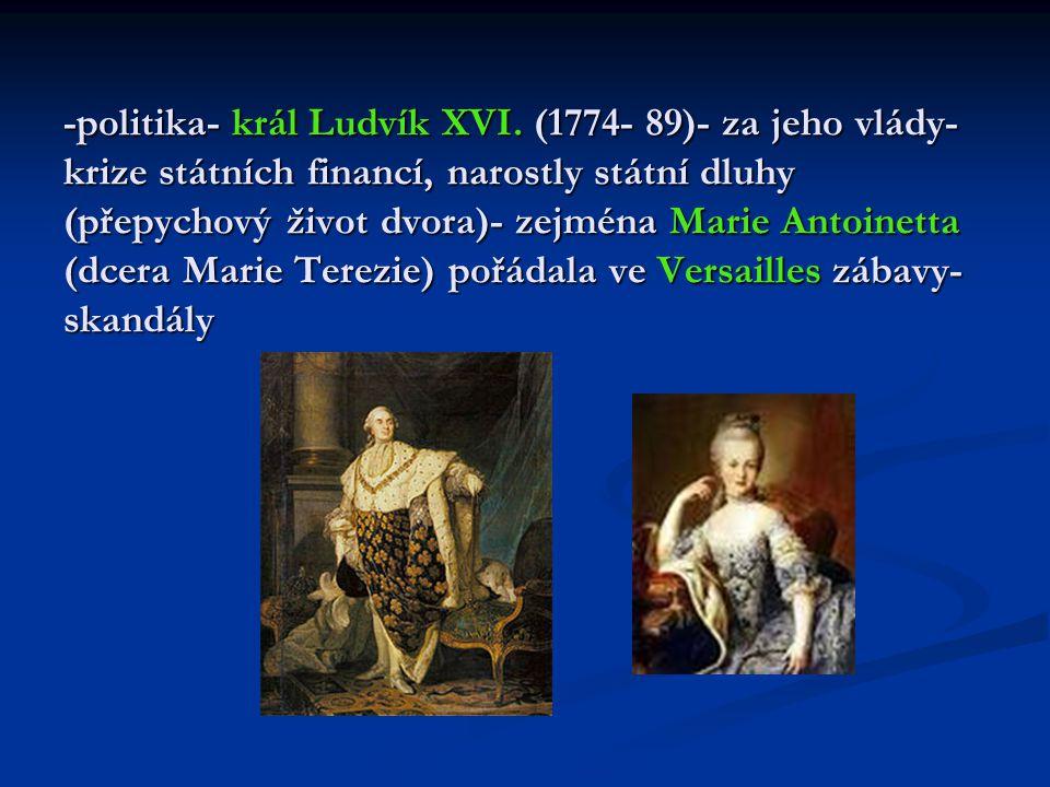 -politika- král Ludvík XVI