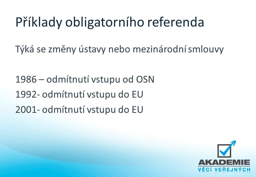 Příklady obligatorního referenda