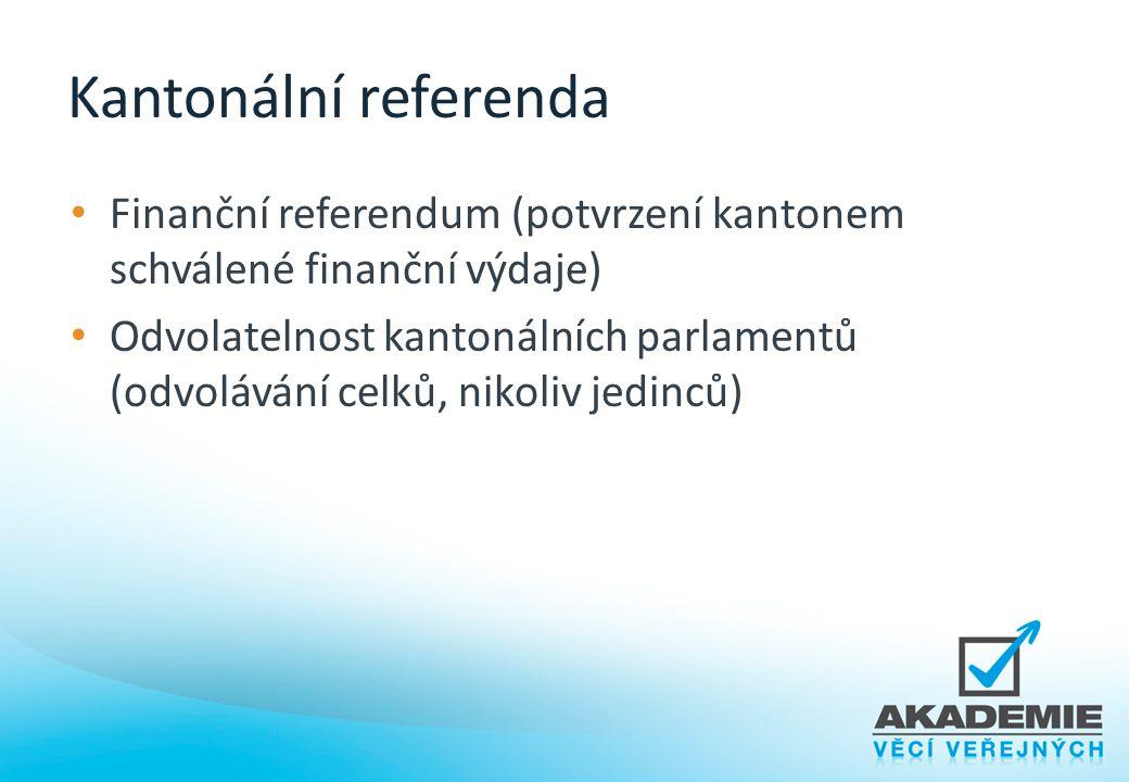 Kantonální referenda Finanční referendum (potvrzení kantonem schválené finanční výdaje)