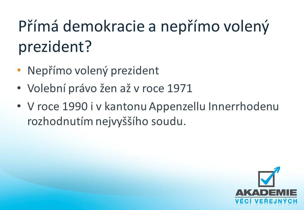 Přímá demokracie a nepřímo volený prezident