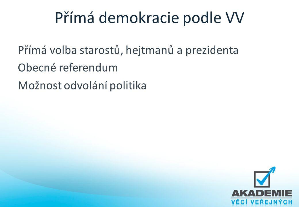 Přímá demokracie podle VV
