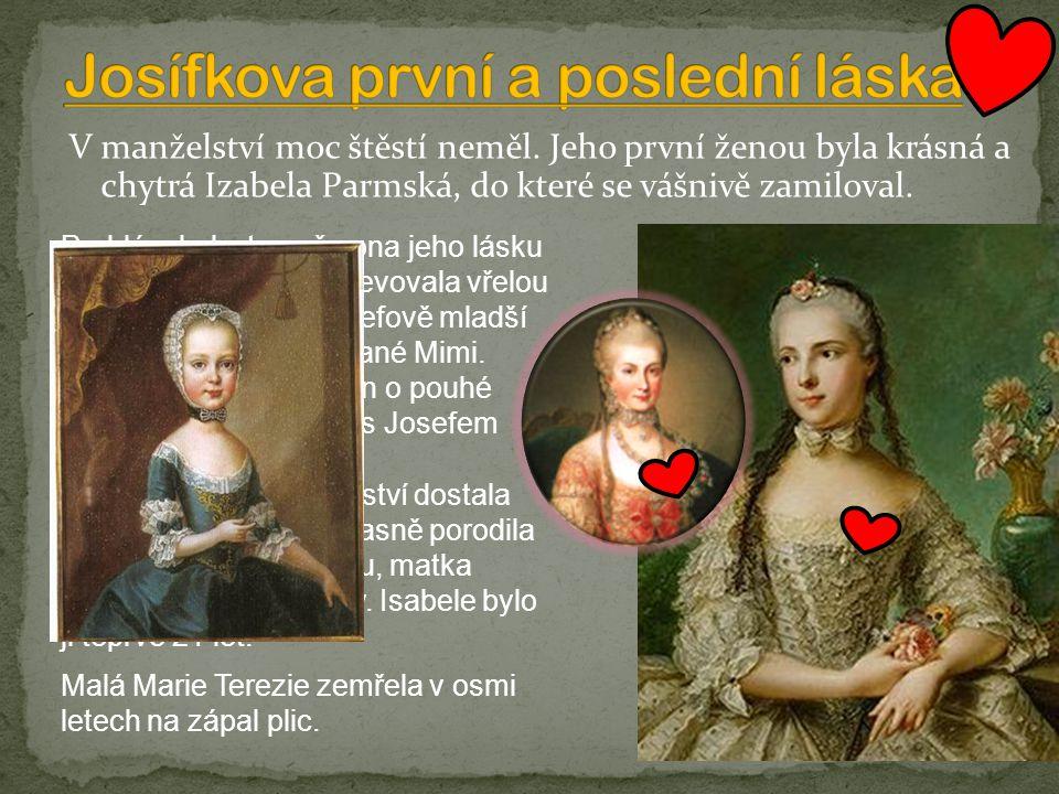 Josífkova první a poslední láska