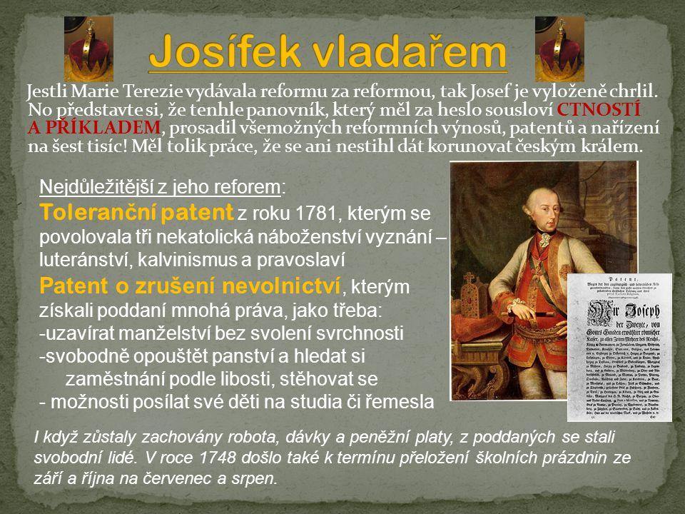 Josífek vladařem