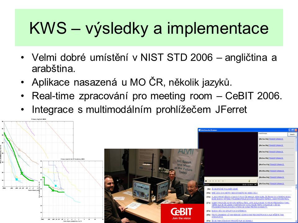 KWS – výsledky a implementace