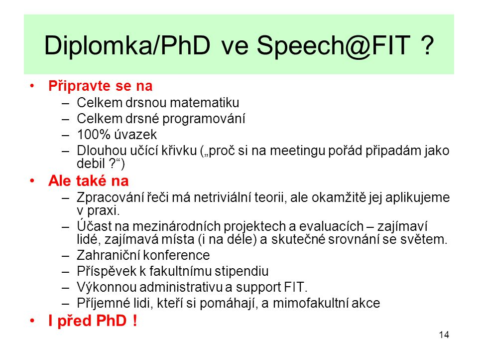 Diplomka/PhD ve Speech@FIT