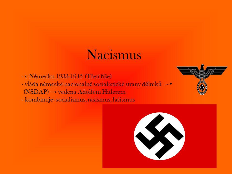 Nacismus - v Německu 1933-1945 (Třetí říše)