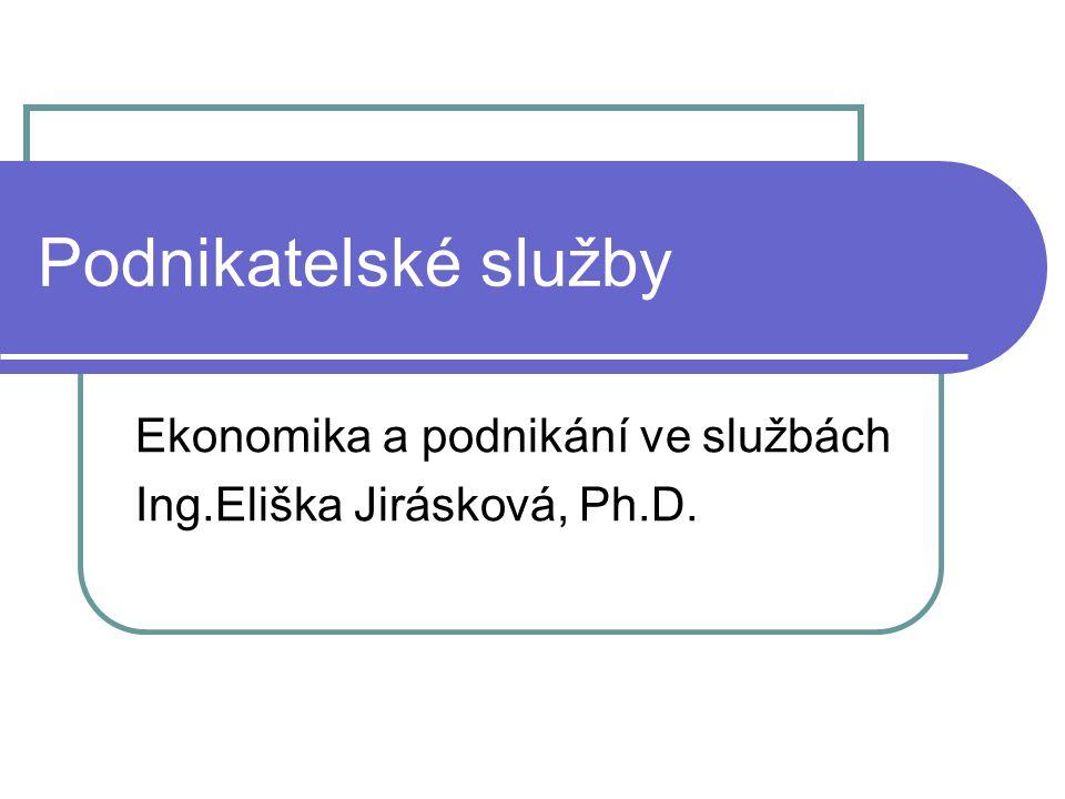 Ekonomika a podnikání ve službách Ing.Eliška Jirásková, Ph.D.