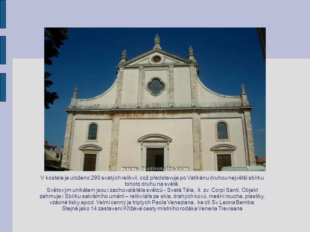 V kostele je uloženo 290 svatých relikvií, což představuje po Vatikánu druhou největší sbírku tohoto druhu na světě.