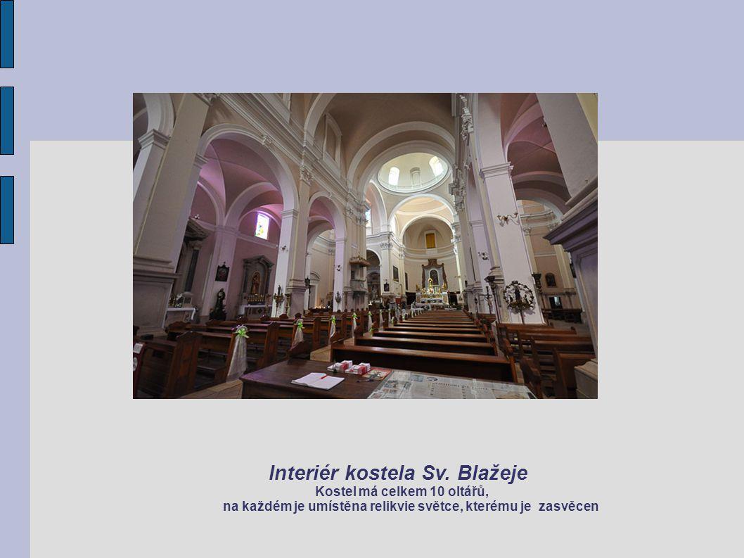 Interiér kostela Sv. Blažeje