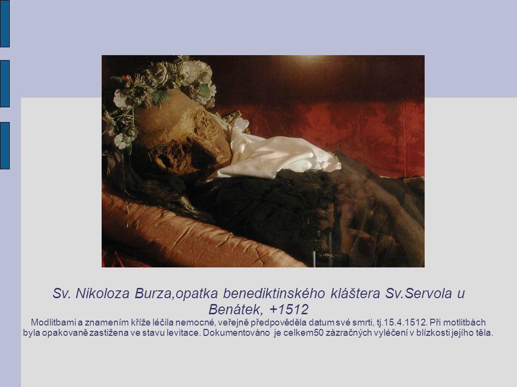Sv. Nikoloza Burza,opatka benediktinského kláštera Sv