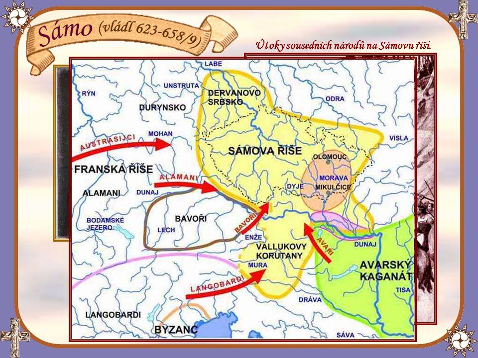 Útoky sousedních národů na Sámovu říši.