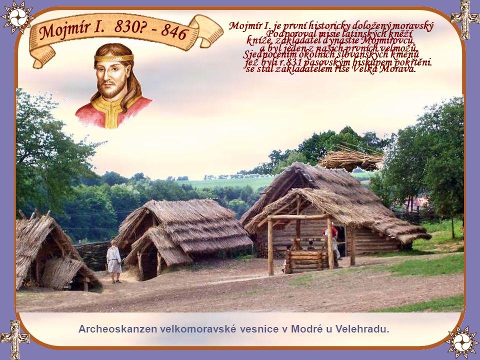 Mojmír I. je první historicky doložený moravský