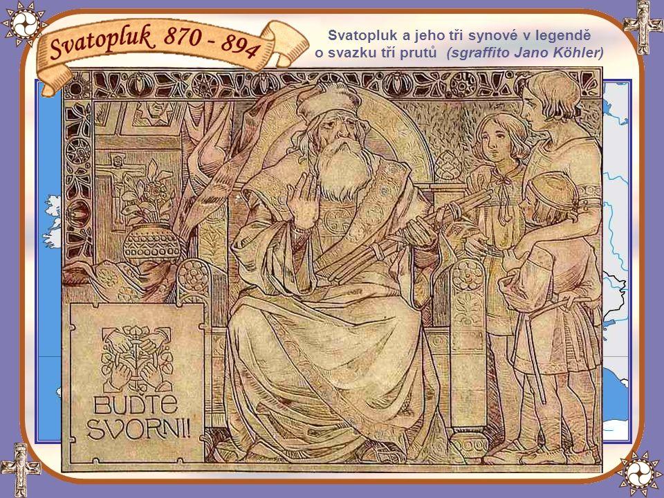 Svatopluk a jeho tři synové v legendě