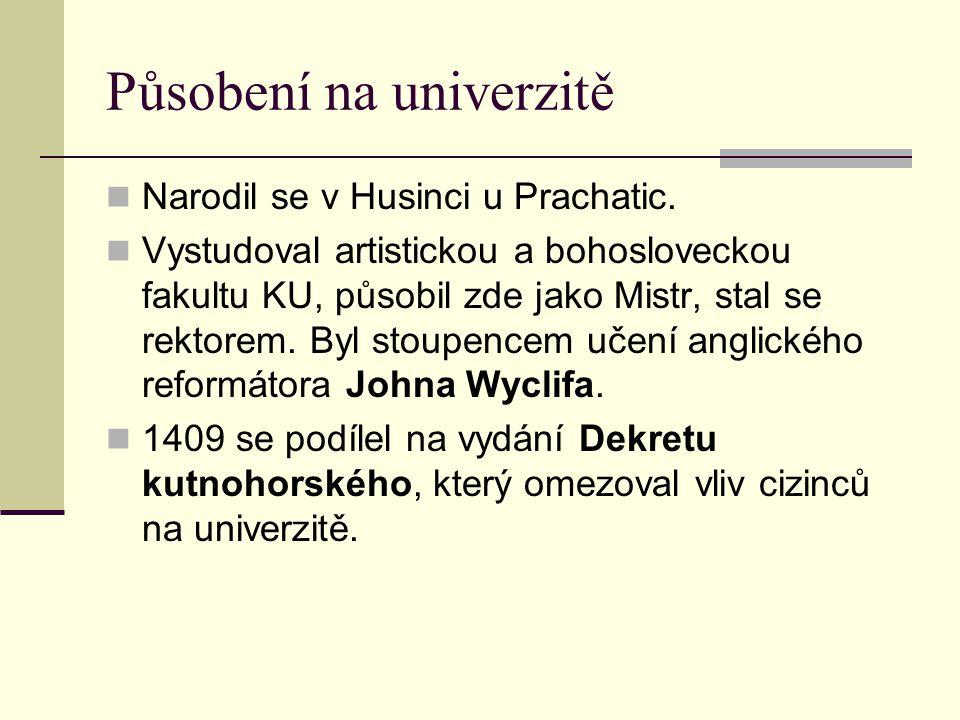 Působení na univerzitě