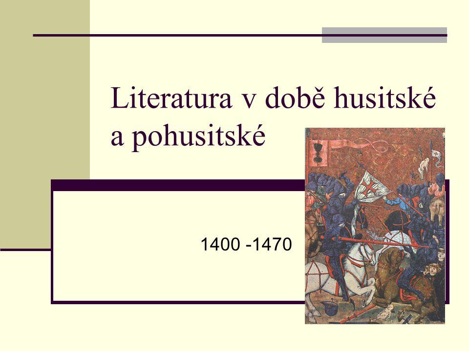 Literatura v době husitské a pohusitské
