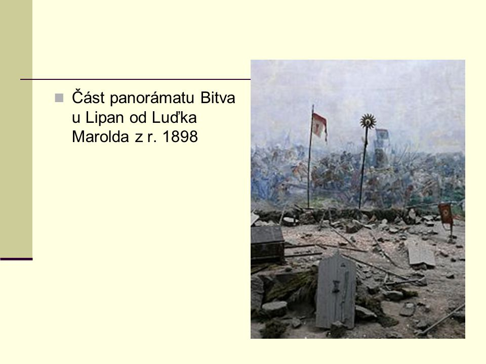 Část panorámatu Bitva u Lipan od Luďka Marolda z r. 1898