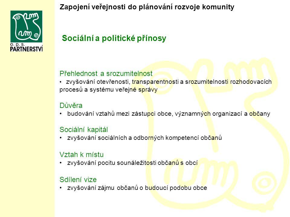 Sociální a politické přínosy